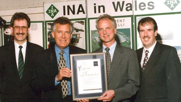 EMAS award to INA. INA UK wins Black and Decker Supplier of Excellence Award - Bronze.