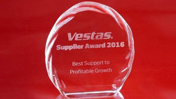 Schaeffler receives Best Support to Profitable Growth award from Vestas.